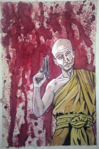 buddhist-with-gun